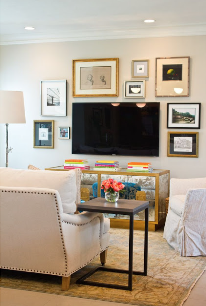 If You Have A Collage Wall Or Several Art Images Hung On The Wall, Create  Order To The Space.