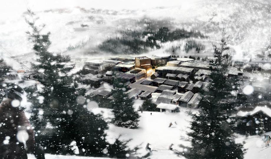 Linea di sezione kimball art center for Architettura vernacolare