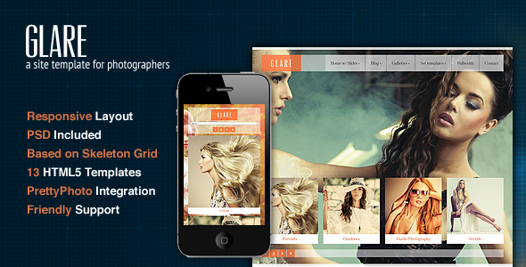 Glare-Photography-Portfolio-Site-Template