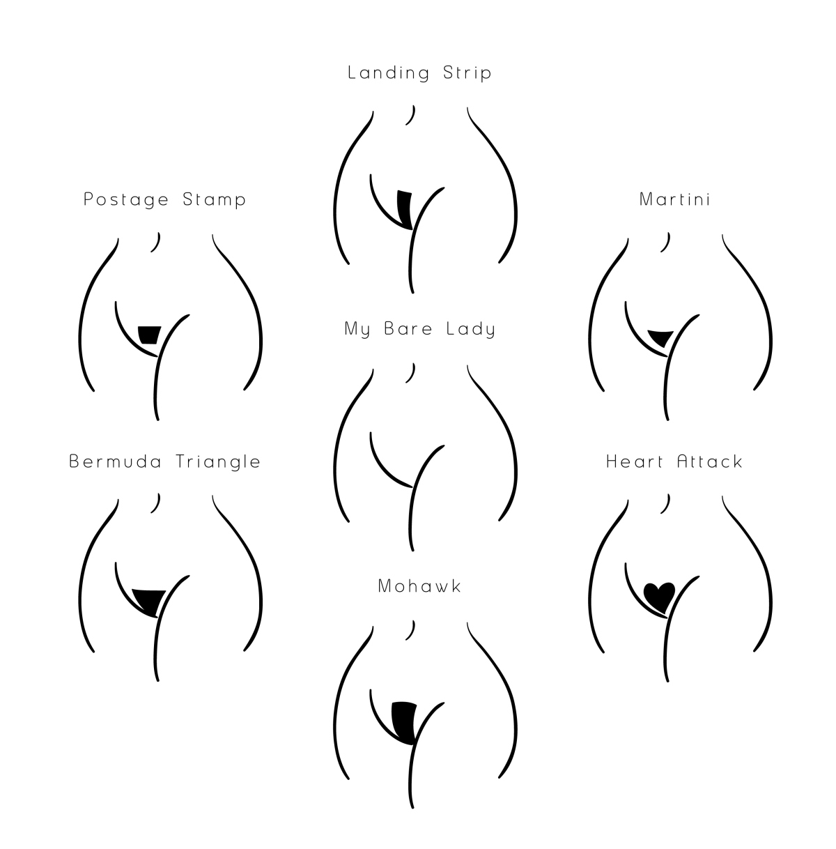 style your pubic hair