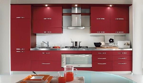 Ideas De Diseno De Cocinas Decoradas En Rojo Casaydeco Ideas - Cocinas-en-rojo