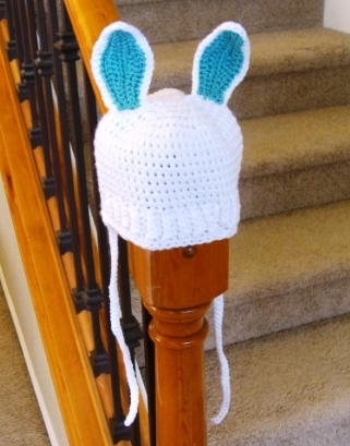 Baby hat with bunny ears