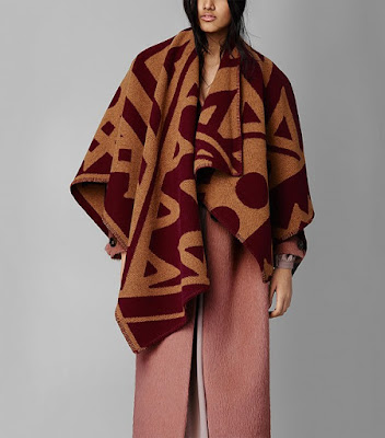 Burberry Graphic Motif Blanket Poncho