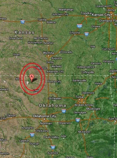 Magnitude 2.6 Earthquake of Cherokee, Oklahoma 2014-09-16