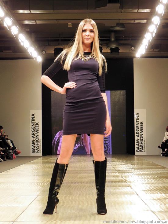 Vestidos casuales invierno 2014 moda Markova