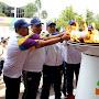 Kirab Obar Asian Games Singgah di Kota Seribu Sungai