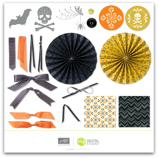 Stampin' Up! Halloween Banner Simply Created Kit Digital Download