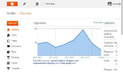 My NetBlot Blogger Dashboard