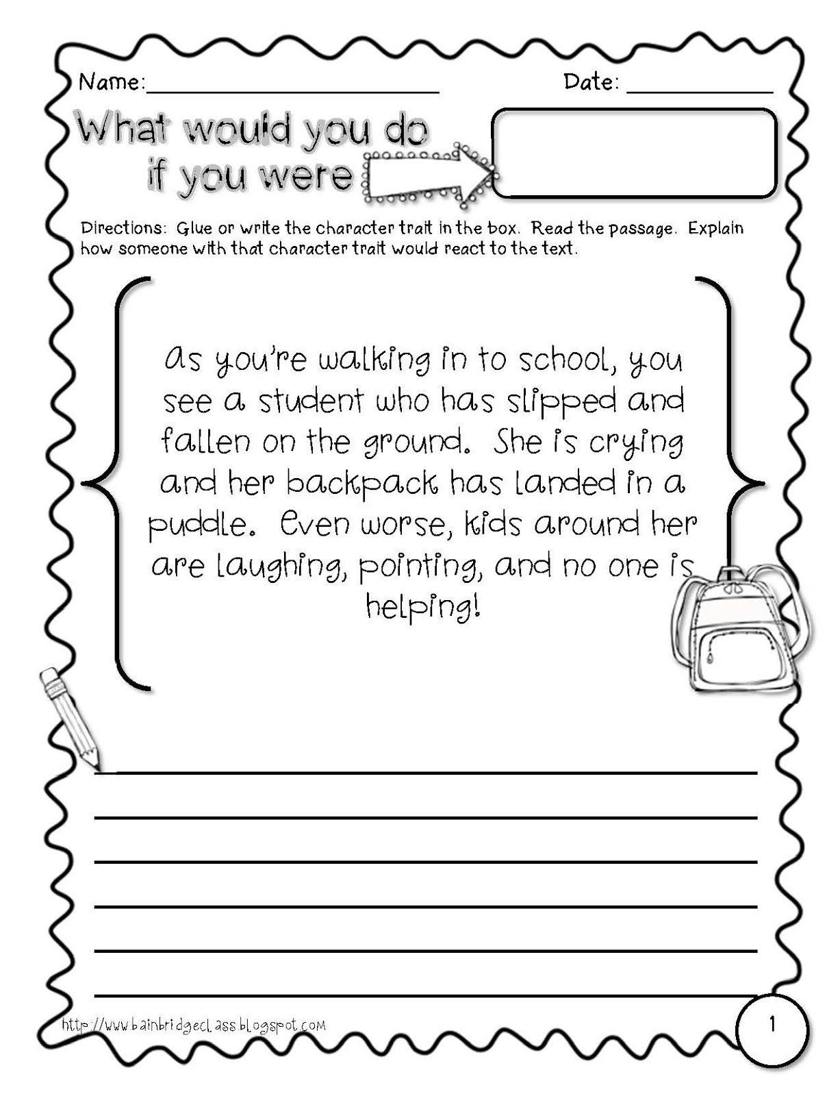 worksheet Character Traits Reading Comprehension Worksheets rl 4 1rl 3 describing characters lessons tes teach common core and so much more first week of school character