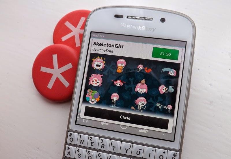 """Los paquetes de BBM Sticker están poblando lentamente el BBMShop. Desde grandes nombres como Shaun the Sheep, WWE y South Park, a personajes interesantes tales como Lil 'Shelton, CosCat y Bot de la burbuja, diseñado por ilustradores, diseñadores y artistas. Un nuevo paquete de etiqueta ha llegado a la tienda de BBM y viene de la artista ItchySoul, que nos trajo CosCat, uno de los primeros paquetes de BBM Sticker para estar disponible cuando el Shop BBM fue lanzado por primera vez. SkeletonGirl es """"Una niña huesuda en una encantadora peluca rosa. Ama a sus amigos peludos y golpea a"""