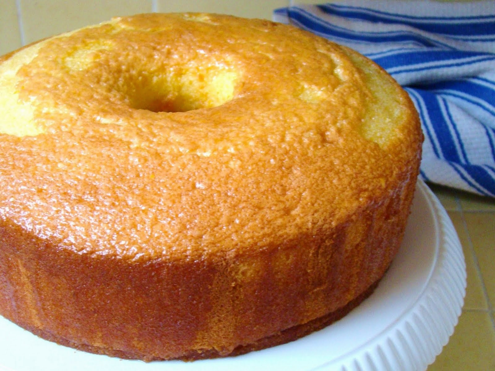 Chiffon Cake with Sunshine Glaze Recipe