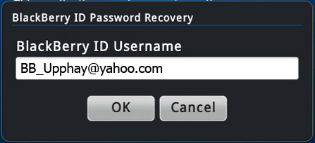 how to create blackberry id username