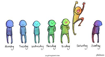 Вот как-то так большинство людей представляет себе рабочую неделю )))