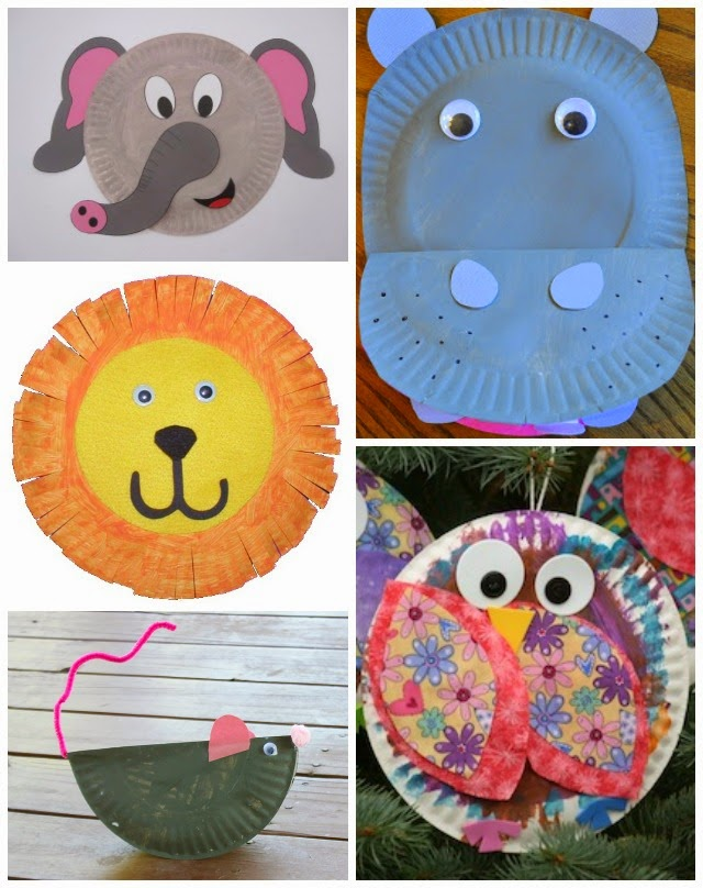 Paper Plate Dinosaur by The Craft Train for Learn with Play at Home (with free printable templates)  sc 1 st  Learn with Play at Home & Learn with Play at Home: 20 Fabulous Paper Plate Animal Crafts