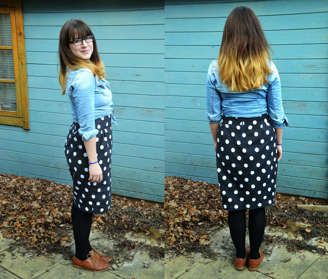 Spotty Pencil Skirt