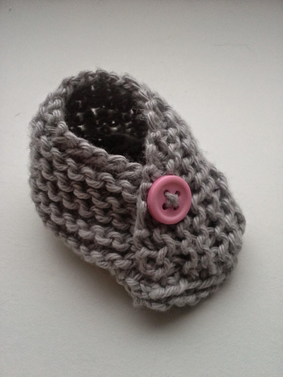 strikkede babysko opskrift