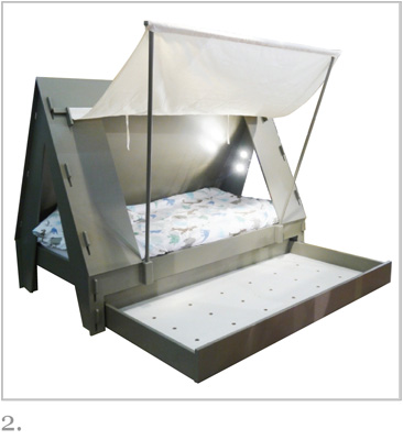 Tent Bed in Basalte Grey