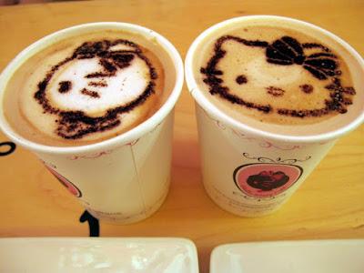 Hot Chocolate at Hello Kitty Cafe Hongdae Seoul