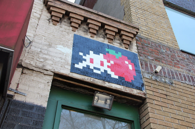 Mosaic Street Art By Space Invader On The Streets Of New York City, USA. 6