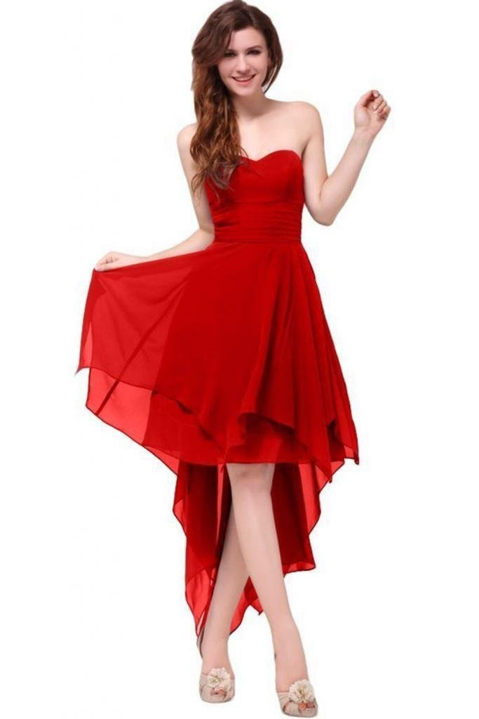 Red cocktail dress for prom