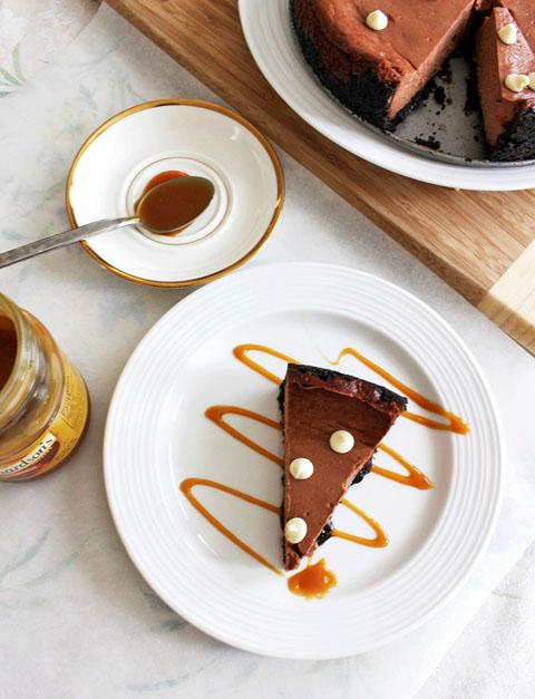 Chocolate Caramel Cheesecake — Pass the Cocoa