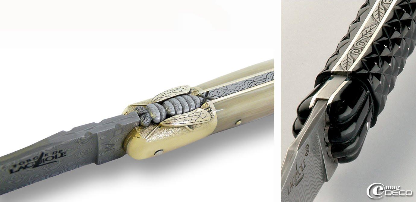 Couteaux Forge de Laguiole ciselés par Virgilio Muñoz Caballero