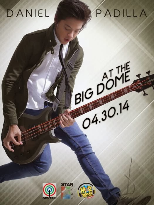 Daniel Padilla Concert at the Big Dome Ticket Details | April 30 2014
