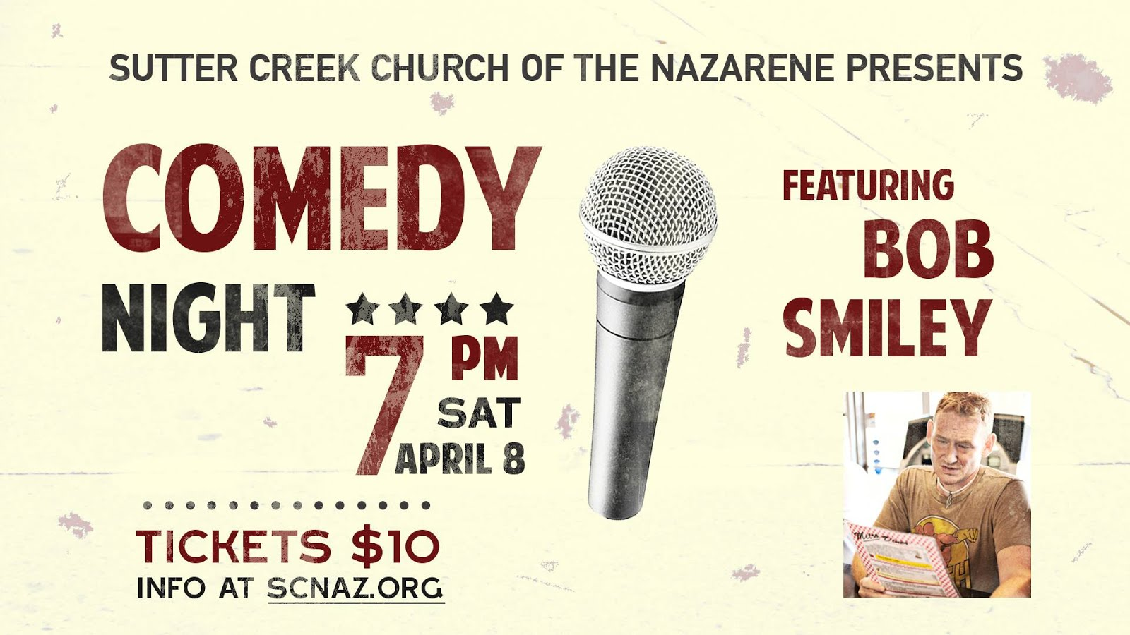 Comedy Night at SC Nazarene - Sat Apr 8