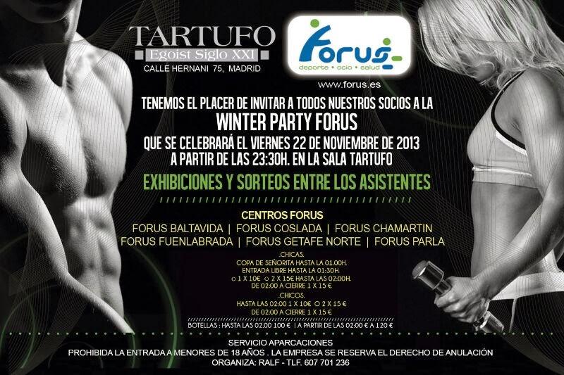TARTUFO CLUB: VIERNES 22 DE NOVIEMBRE  -  WINTER PARTY