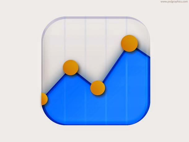Data Stats Icon PSD
