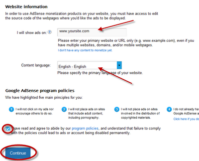 How to create Google Adsense Account - Tips and Tricks