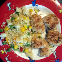 Chicken nuggets and couscous