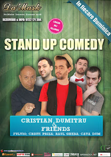 stand-up comedy duminica caffe damask bucuresti