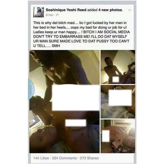 Oh No! Girl Disgraces Herself On Facebook In The Name Of Proving She Had Sex With Married Man (18+ Photos)
