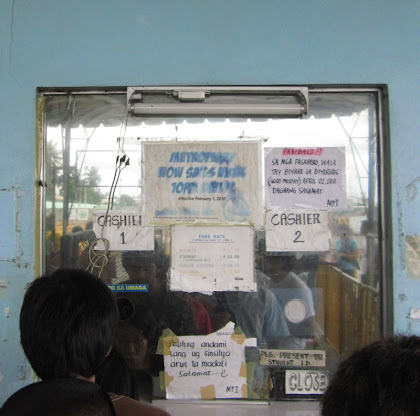 Mactan Ferry Ticket Counter in Cebu City Pier 3