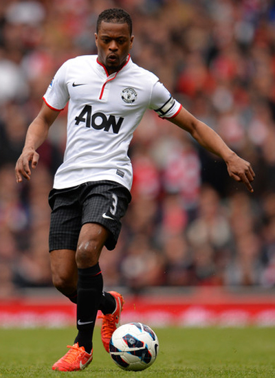 Patrice Evra Man Utd Left Back Defender 2013