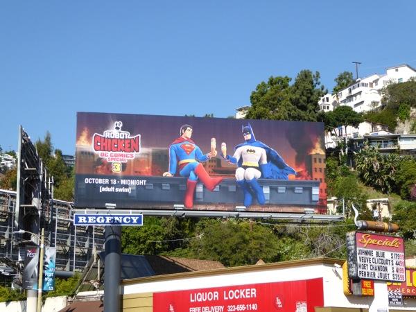 Superman Batman Robot Chicken billboard