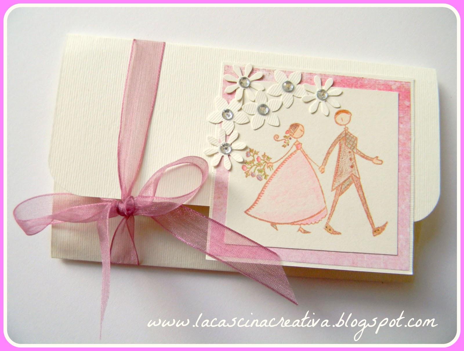Famoso la cascina creativa: Card matrimonio con tasca porta soldi OI55