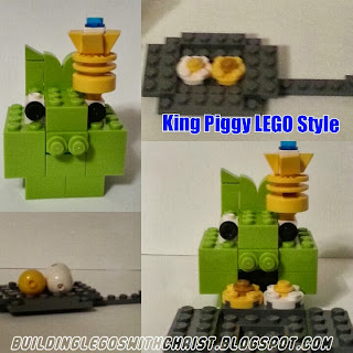 King Piggy created from LEGO Bricks, Angry Birds LEGO Creations