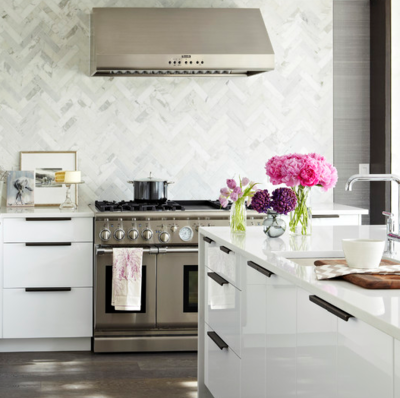 Awesome Beautiful White Kitchen Cabinets #6: Calacatta+marble+herringbone.png