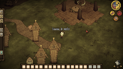 Don't Starve Wilson pig village and pig king