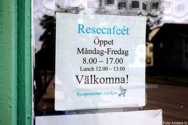 grästorp, resecafé, stängt för lunch, café