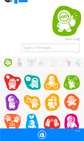 Stickers in Facebook Messenger