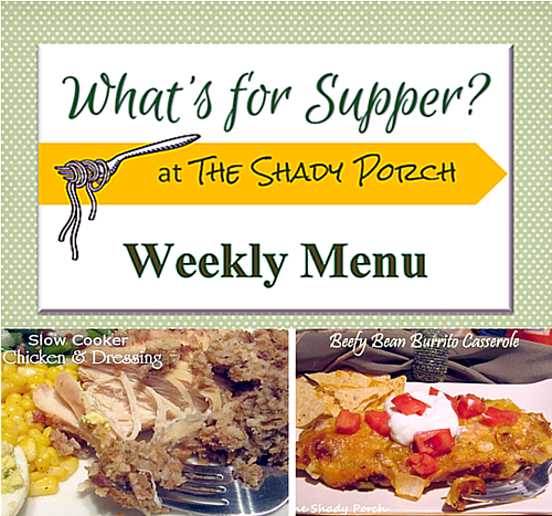 What's For Supper: Weekly Menu September 08, 2014