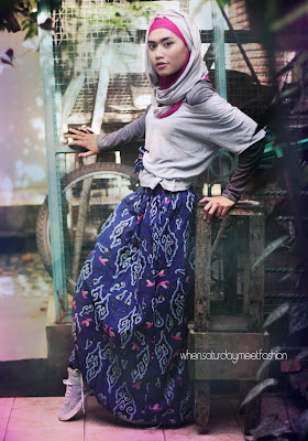 Style inspiration : Batik and Hijab : 2-Saturday