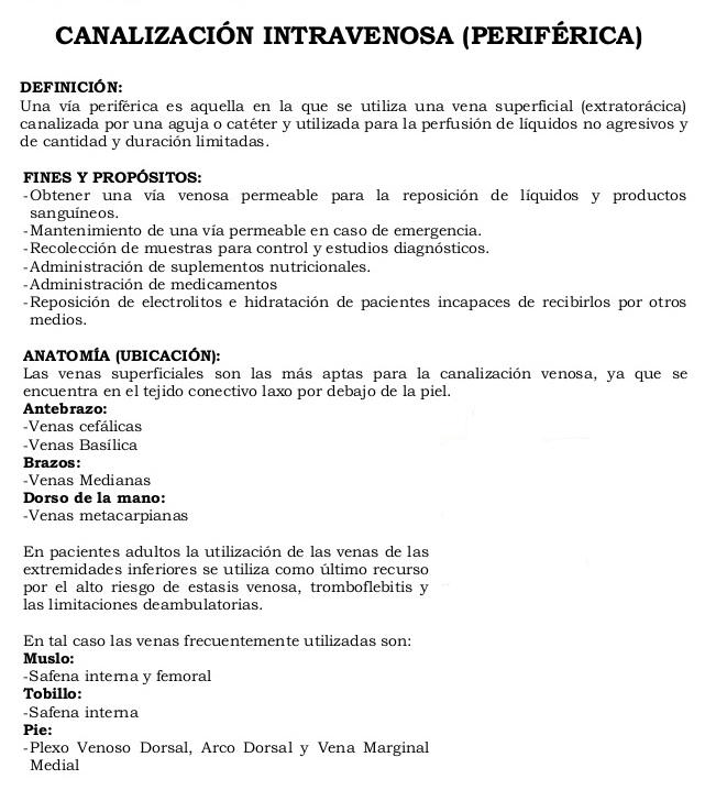 Novedades Enfermeria: Canalización intravenosa (periférica)