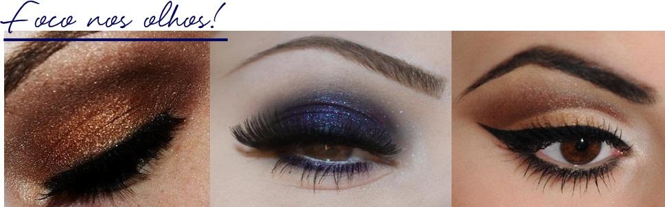 Maquiagem p usar com vestido azul