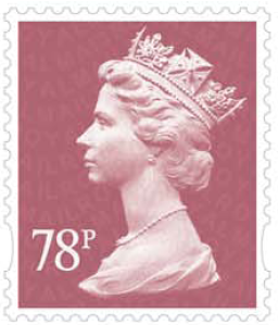 78p Machin definitive stamp.