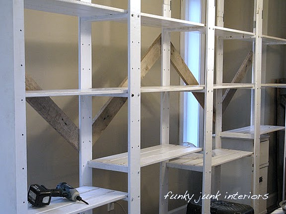bracing Ikea GORM shelving