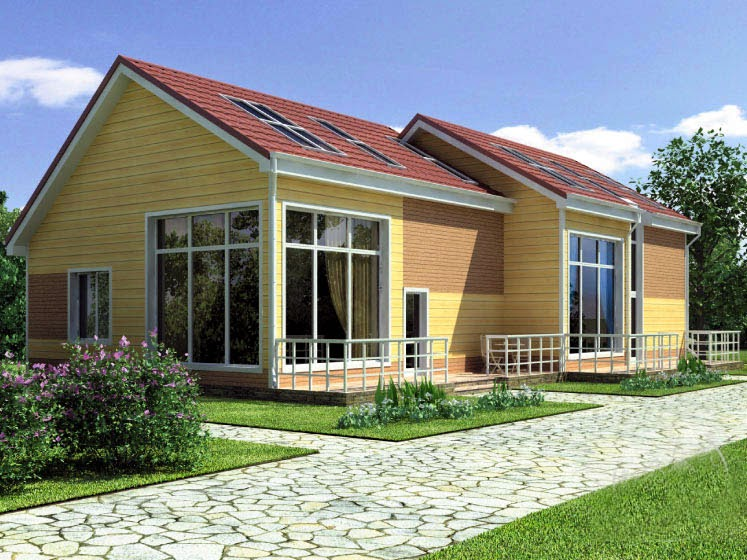Arquitectura de casas casas de madera en bloques adosados - Casas americanas espana ...